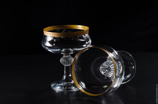 Винтажная посуда. Ярмарка Мастеров - ручная работа. Купить Два бокала для шампанского/коктейля фирмы Judith Goldrand.. Handmade. Золотой, винтаж