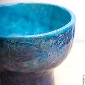 Посуда ручной работы. Ярмарка Мастеров - ручная работа Керамическая пиала на ножке в фиолетово-голубых тонах. Handmade.