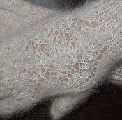 Аксессуары handmade. Livemaster - original item Beautiful fishnet gloves feather