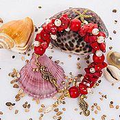 """Украшения ручной работы. Ярмарка Мастеров - ручная работа комплект """"сокровище моря"""". Handmade."""