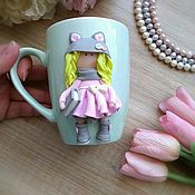 Посуда handmade. Livemaster - original item Mug Girl with a book. Handmade.