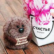 Куклы и игрушки ручной работы. Ярмарка Мастеров - ручная работа Собака Порция счастья - авторская войлочная игрушка. Handmade.