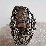 Украшения handmade. Livemaster - original item Ring with rauchtopaz crystal.. Handmade.