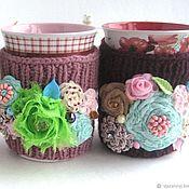 Посуда handmade. Livemaster - original item Three fruit cups in sweaters