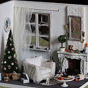 """Куклы и игрушки ручной работы. Ярмарка Мастеров - ручная работа Румбокс """"Этюд в белых тонах"""".. Handmade."""