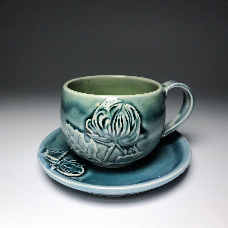 Чайная пара «Хризантемы», Кружки и чашки, Санкт-Петербург,  Фото №1