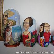 Картины и панно ручной работы. Ярмарка Мастеров - ручная работа Матрешка портрет, семейная, корпоративная. Handmade.