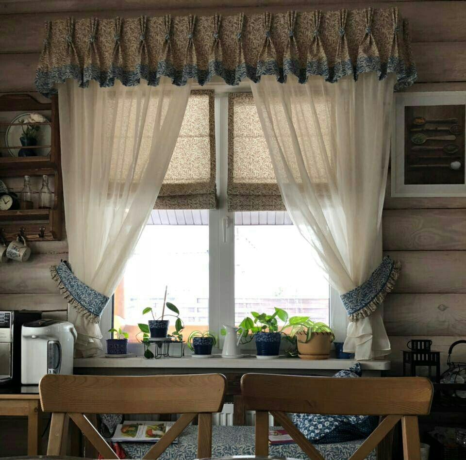 шторы на кухню в деревенском стиле фото мебель