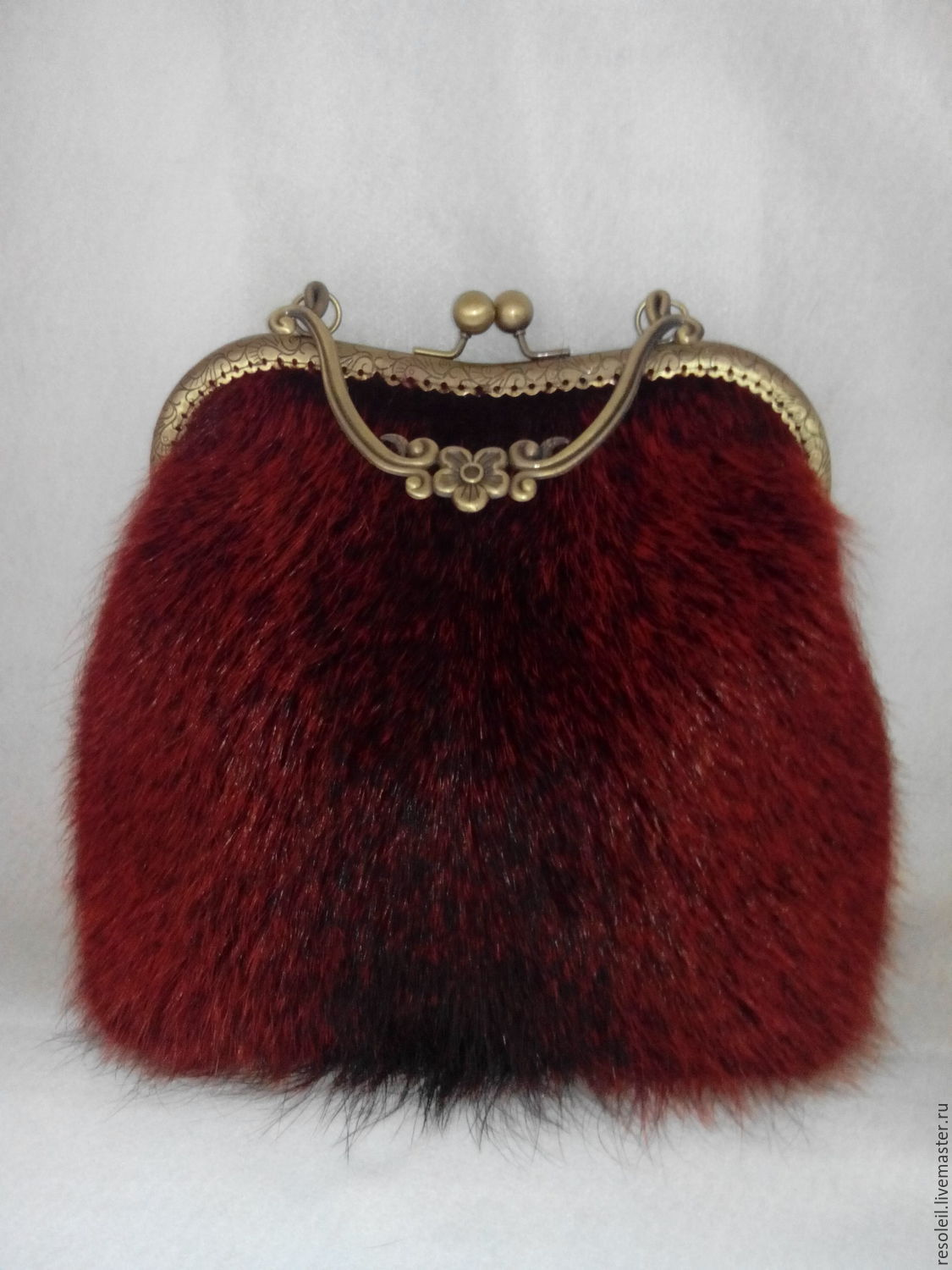 Bag made of fur and leather on the clasp, Clasp Bag, Samara,  Фото №1
