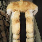 Одежда ручной работы. Ярмарка Мастеров - ручная работа Парка с мехом рыжей лисы, полностью меховая. Handmade.
