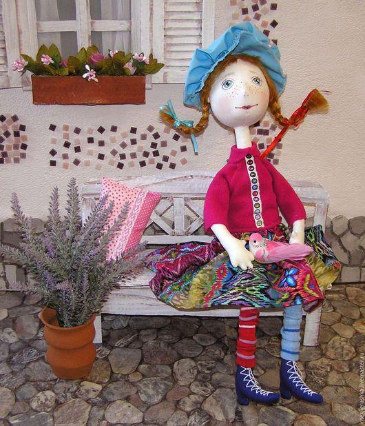 Сказочные персонажи ручной работы. Ярмарка Мастеров - ручная работа. Купить Кукла текстильная Пеппи. Handmade. Фуксия, кукла интерьерная