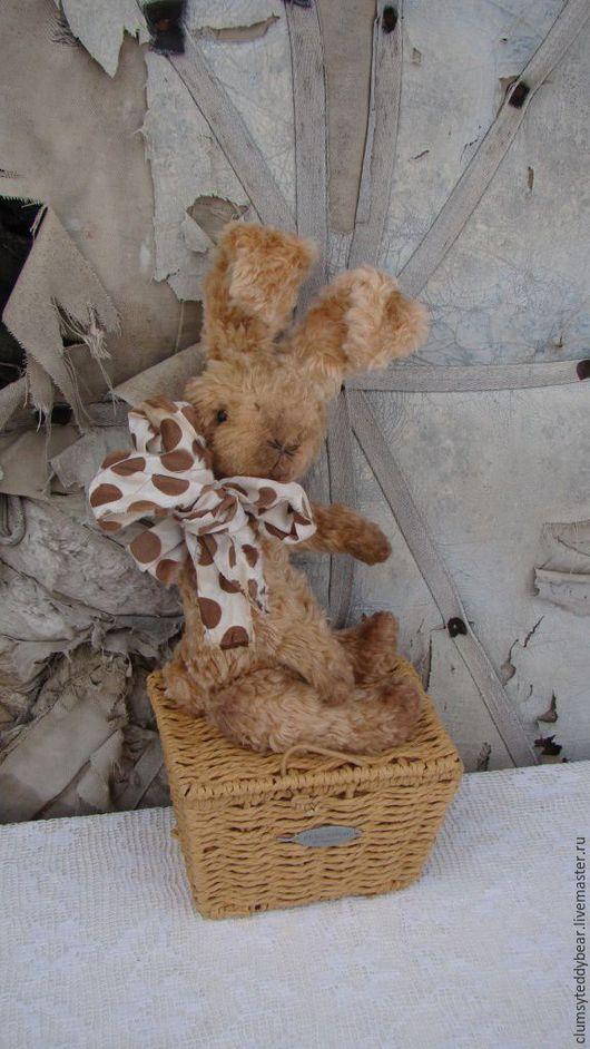 """Мишки Тедди ручной работы. Ярмарка Мастеров - ручная работа. Купить Зайка """"Ириска!. Handmade. Бежевый, зайка, плюш старинный"""