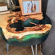 Столы ручной работы. Ярмарка Мастеров - ручная работа Журнальный столик из клена с озёрами из смолы. Handmade.