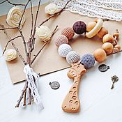 """Куклы и игрушки handmade. Livemaster - original item Грызунок-прорезыватель """"Шоколадный мусс"""". Handmade."""