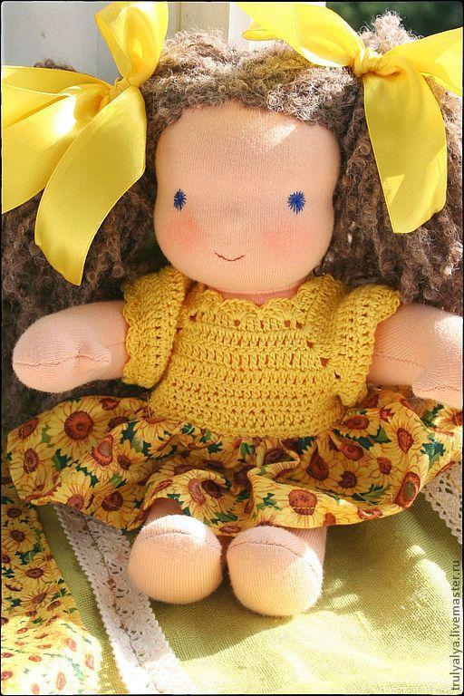 Вальдорфская игрушка ручной работы. Ярмарка Мастеров - ручная работа. Купить Кукла. Handmade. Желтый, кукла в подарок, сливер