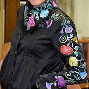 """Одежда ручной работы. Ярмарка Мастеров - ручная работа Куртка, авторская роспись """"Вьюнки"""". Handmade."""