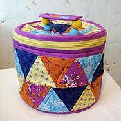 Для дома и интерьера ручной работы. Ярмарка Мастеров - ручная работа Лоскутный сундучок. Handmade.