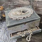 Для дома и интерьера ручной работы. Ярмарка Мастеров - ручная работа шкатулка миникомодик  для украшений Ангелы. Handmade.