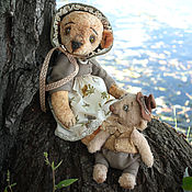 Куклы и игрушки ручной работы. Ярмарка Мастеров - ручная работа Шарлотта и её большой друг. Handmade.
