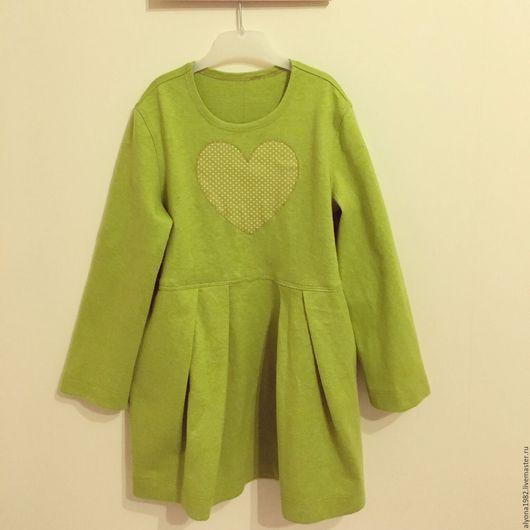 Одежда для девочек, ручной работы. Ярмарка Мастеров - ручная работа. Купить Платье для девочки из экоткани. Handmade. Салатовый, шью платья