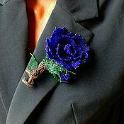 Украшения handmade. Livemaster - original item Rose brooch made of beads. Handmade.