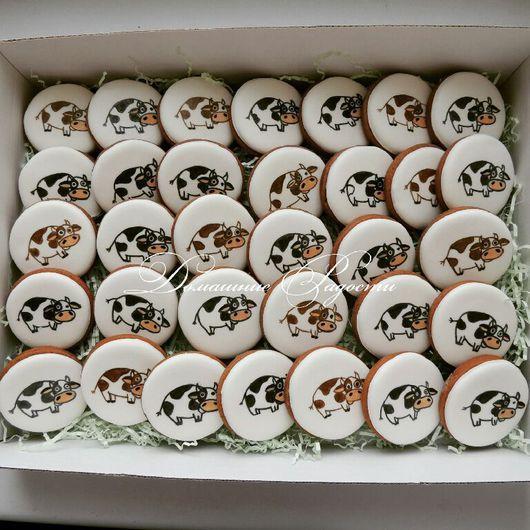 """Кулинарные сувениры ручной работы. Ярмарка Мастеров - ручная работа. Купить Пряники """"33 коровы"""". Handmade. Подарок на день рождения"""