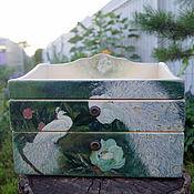 """Для дома и интерьера ручной работы. Ярмарка Мастеров - ручная работа Комод """"Белые павлины"""". Handmade."""