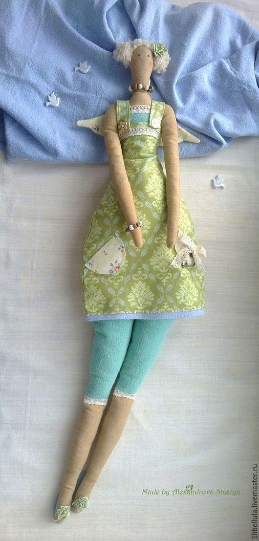 """Куклы Тильды ручной работы. Ярмарка Мастеров - ручная работа. Купить Тильда """"Летний полдень"""". Handmade. Зеленый, травка, тепло"""