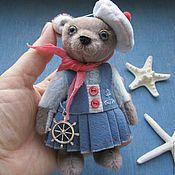 Куклы и игрушки ручной работы. Ярмарка Мастеров - ручная работа Мишка-морячка. Handmade.