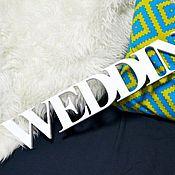 """Свадебный салон ручной работы. Ярмарка Мастеров - ручная работа Деревянное слово """" WEDDING"""". Handmade."""