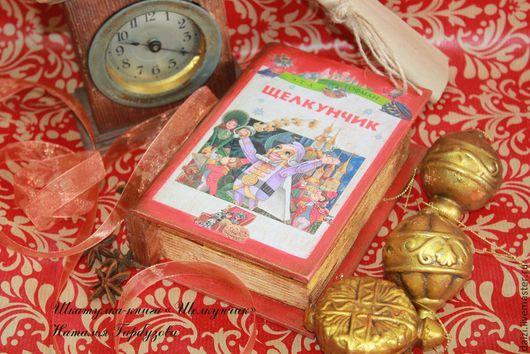 """Шкатулки ручной работы. Ярмарка Мастеров - ручная работа. Купить Книга-шкатулка """"Щелкунчик"""". Handmade. Ярко-красный, щелкунчик"""