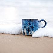 """Кружки ручной работы. Ярмарка Мастеров - ручная работа Кружка керамическая """"На пляже"""". Handmade."""
