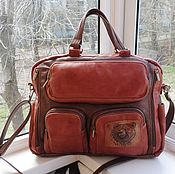 Сумки и аксессуары handmade. Livemaster - original item Bag leather men`s engraved custom for Elizabeth. Handmade.