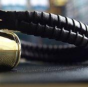 Украшения ручной работы. Ярмарка Мастеров - ручная работа Браслет кожаный коричневый плетеный мужской ручной работы лаконичный. Handmade.
