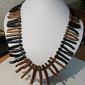 Колье ручной работы. Ярмарка Мастеров - ручная работа Ожерелье из коралловых палочек. Handmade.
