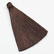 (KD002) Кисть декоративная в тубе 70мм, Коричневая
