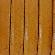 Материалы для творчества ручной работы. Ярмарка Мастеров - ручная работа Кожаный шнур регализ, желтый. Испания. Handmade.