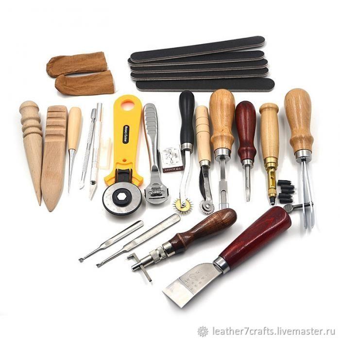 Набор инструментов для работы с кожей 20 предмета, Другие виды рукоделия, Санкт-Петербург, Фото №1