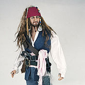 Куклы и игрушки ручной работы. Ярмарка Мастеров - ручная работа портретная кукла в стиле пирата. Handmade.