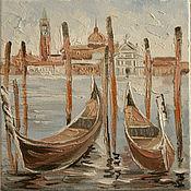 Картины и панно ручной работы. Ярмарка Мастеров - ручная работа венеция лодки. Handmade.
