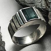 Украшения handmade. Livemaster - original item Men`s ring with natural Emerald (2,39 ct) handmade. Handmade.