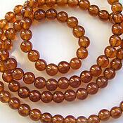 handmade. Livemaster - original item Beads: spessartin garnet smooth ball. Handmade.