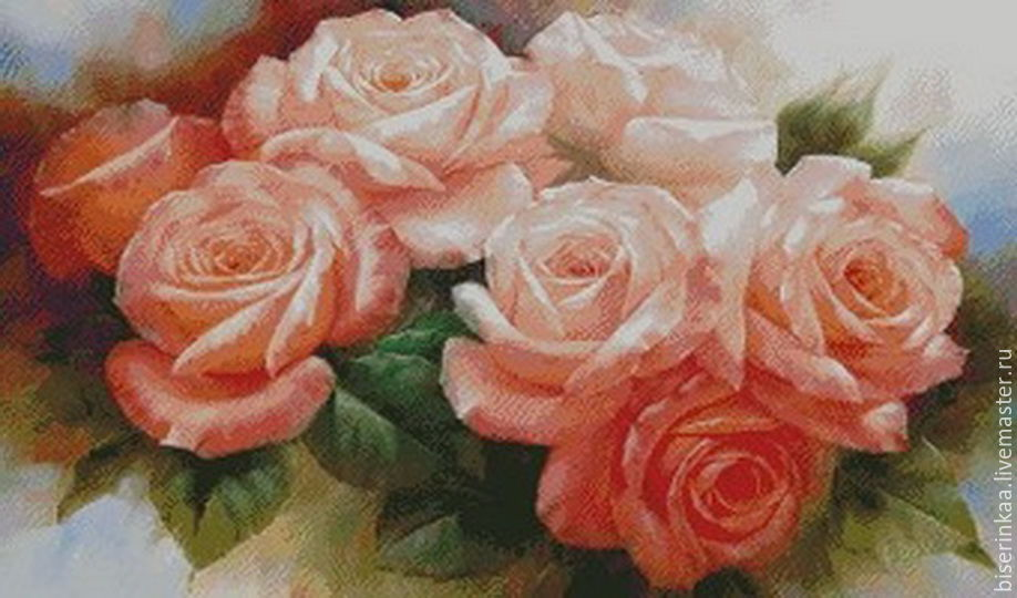 Embroidery by Czech bead `the Scent of rose` with a full lining