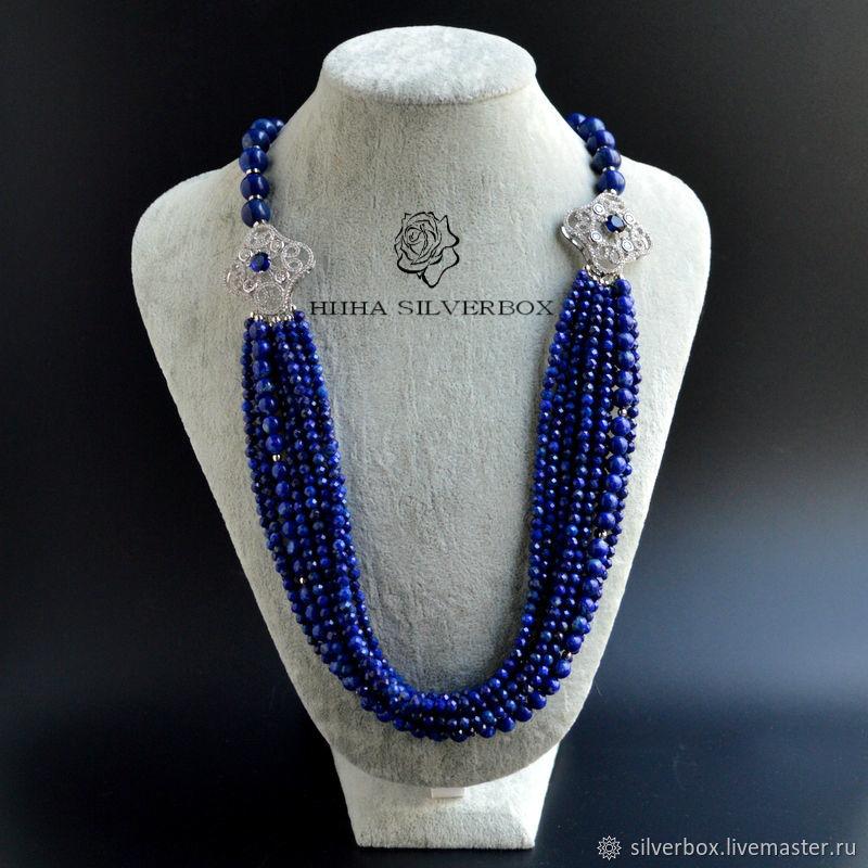 Lapis lazuli necklace INDIGO, Necklace, Moscow,  Фото №1