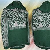 Одежда ручной работы. Ярмарка Мастеров - ручная работа Тату-свитер - Черепа в орнаменте. Handmade.