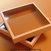 Сувениры и подарки handmade. Livemaster - original item Box for packaging made of cardboard with a window. Handmade.