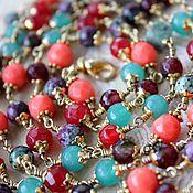 Украшения handmade. Livemaster - original item Caribbean. With pendant. Natural stones. Handmade.