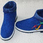 Обувь ручной работы. Ярмарка Мастеров - ручная работа ботиночки из шелка. Handmade.
