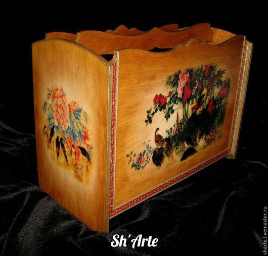 Журнальницы ручной работы. Ярмарка Мастеров - ручная работа. Купить Журнальница в китайском стиле Хуа-Няо (Цветы и птицы). Handmade.
