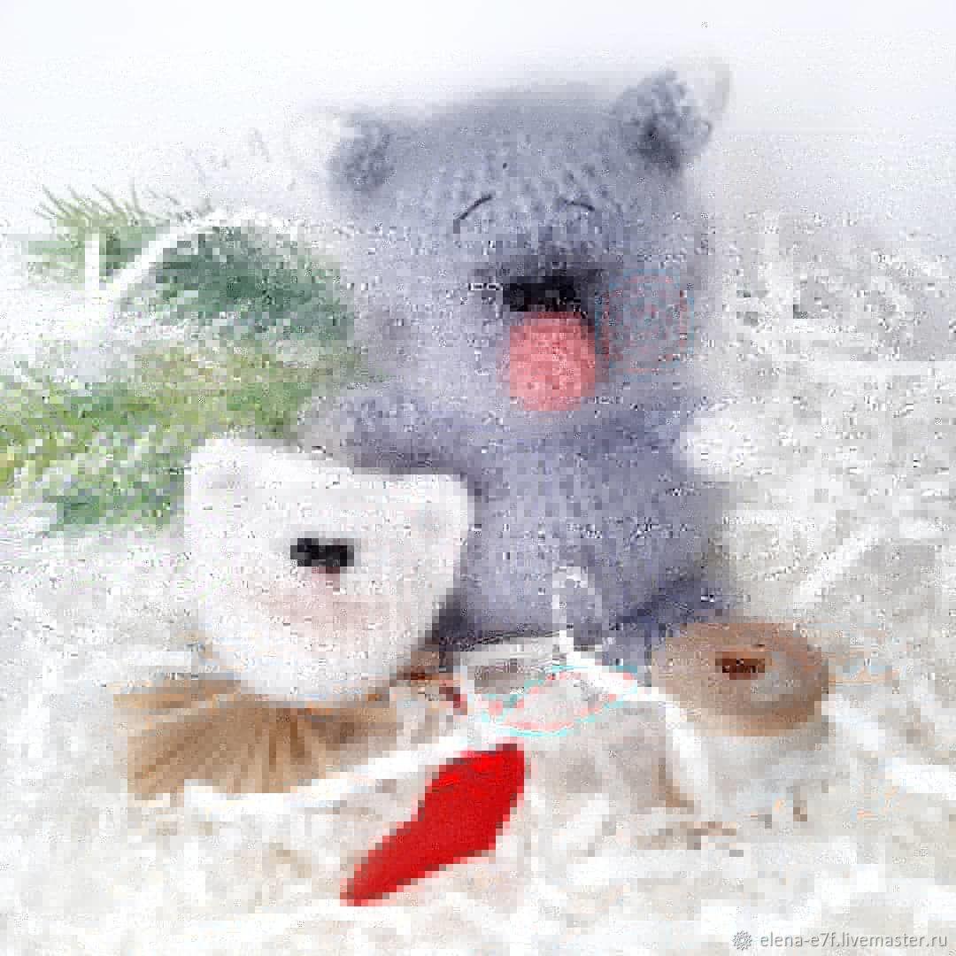 Вязанные кошки, игрушки крючком, ручная работа, подарки детям950, Мягкие игрушки, Новосибирск,  Фото №1
